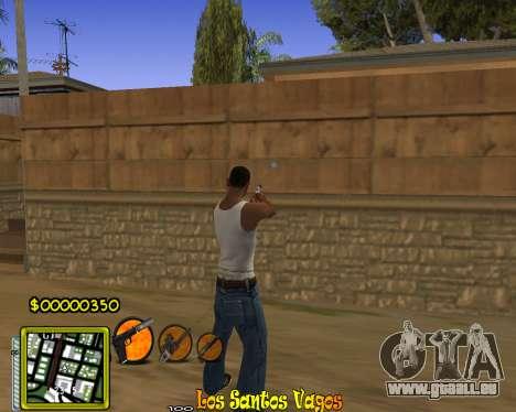 C-HUD Vagos Gang pour GTA San Andreas deuxième écran