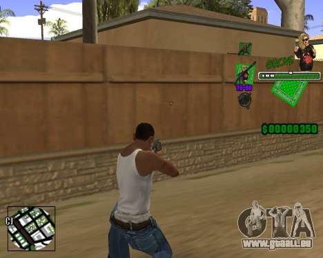 C-HUD Grove St. für GTA San Andreas zweiten Screenshot
