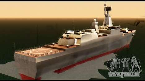 Admiral Sergey Gorshkov pour GTA San Andreas sur la vue arrière gauche