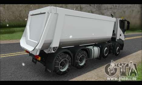 Iveco Trakker 2014 Tipper Snow pour GTA San Andreas sur la vue arrière gauche