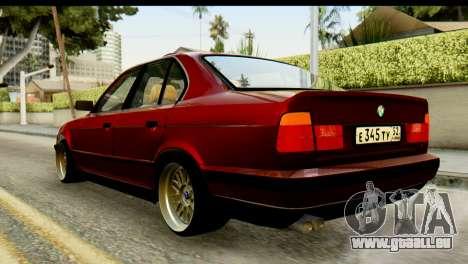 BMW 525i E34 pour GTA San Andreas laissé vue