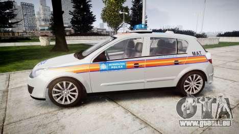 Vauxhall Astra 2005 Police [ELS] Britax pour GTA 4 est une gauche