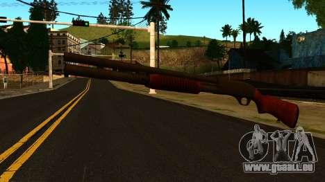 En bois MP-133 avec des Paillettes pour GTA San Andreas deuxième écran