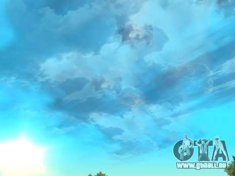 Réaliste ciel pour GTA San Andreas deuxième écran