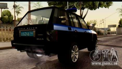 Land Rover ДПС pour GTA San Andreas vue arrière
