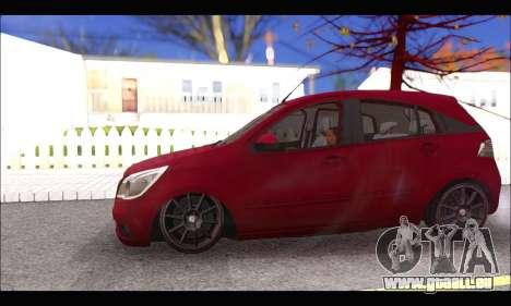 Chevrolet Agile Tunning pour GTA San Andreas vue arrière