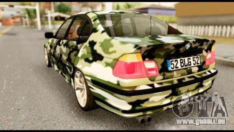 BMW M3 E46 TSK pour GTA San Andreas laissé vue