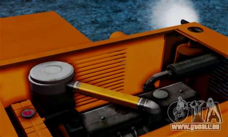 FMZ BIZON Super Z056 1985 Orange pour GTA San Andreas vue intérieure