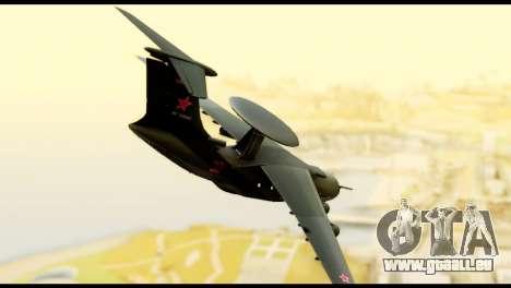 Beriev A-50 Russian Air Force für GTA San Andreas linke Ansicht