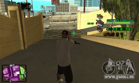 C-HUD Ghetto 4ever für GTA San Andreas her Screenshot