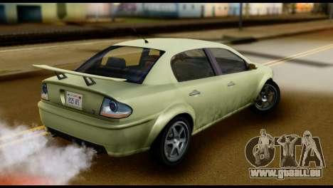 DeClasse Premier from GTA 5 für GTA San Andreas zurück linke Ansicht