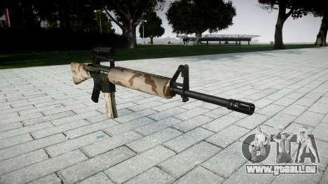 Le M16A2 fusil [optique] sahara pour GTA 4
