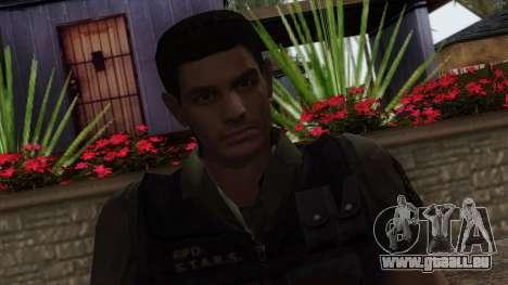 Resident Evil Skin 2 pour GTA San Andreas troisième écran