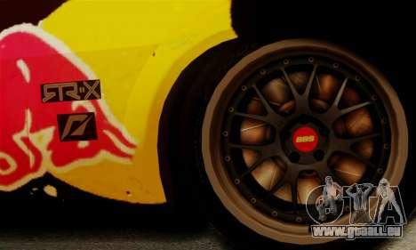 Ford Mustang RTR RedBull für GTA San Andreas Rückansicht