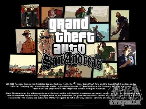 De nouveaux écrans de chargement pour GTA San Andreas troisième écran
