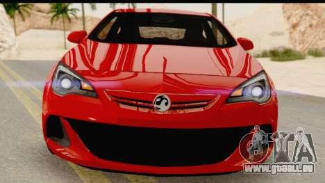 Vauxhall Astra VXR für GTA San Andreas Rückansicht