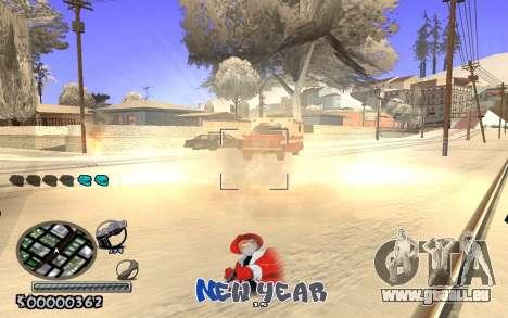C-HUD New Year pour GTA San Andreas deuxième écran
