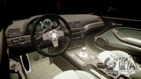 BMW E46 M3 pour GTA 4 Vue arrière