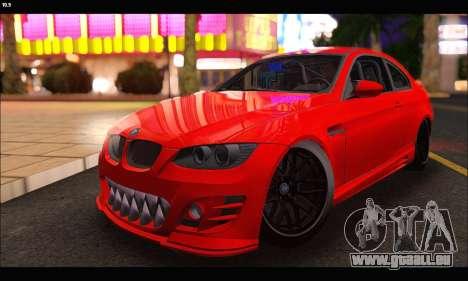 BMW M3 GTS 2010 pour GTA San Andreas vue arrière
