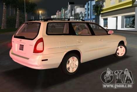 Daewoo Nubira I Wagon CDX US 1999 pour une vue GTA Vice City de la droite