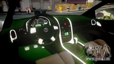 Pontiac GTO 2006 17in wheels pour GTA 4 est une vue de l'intérieur
