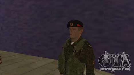 Le Corps des marines des forces armées pour GTA San Andreas troisième écran