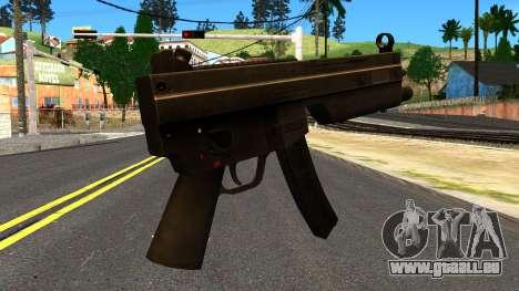 MP5 from GTA 4 pour GTA San Andreas deuxième écran