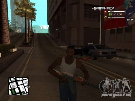 С-HUD par SampHack v. 21 pour GTA San Andreas troisième écran