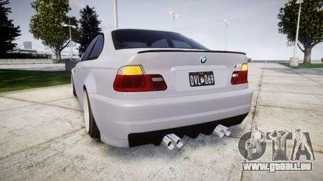 BMW E46 M3 pour GTA 4 Vue arrière de la gauche