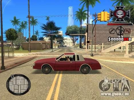 C-HUD for Ghetto pour GTA San Andreas quatrième écran
