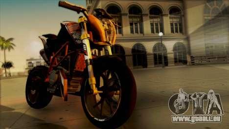 KTM Duke 125 pour GTA San Andreas sur la vue arrière gauche