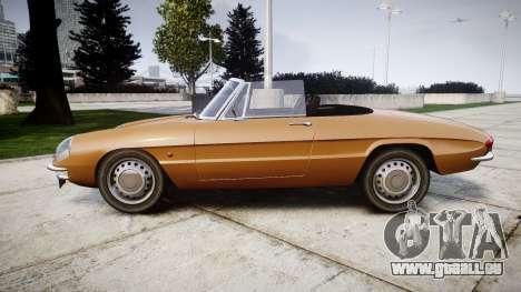 Alfa Romeo Spider 1966 pour GTA 4 est une gauche
