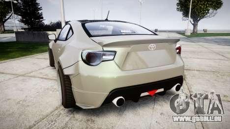 Toyota GT-86 RocketBunny für GTA 4 hinten links Ansicht