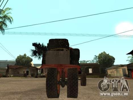 Batmobil für GTA San Andreas zurück linke Ansicht