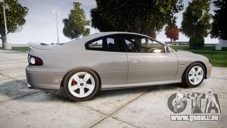 Pontiac GTO 2006 17in wheels für GTA 4 linke Ansicht