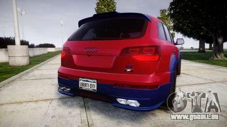 Audi Q7 2009 ABT Sportsline pour GTA 4 Vue arrière de la gauche