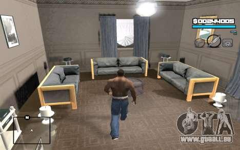 Blue C-HUD für GTA San Andreas
