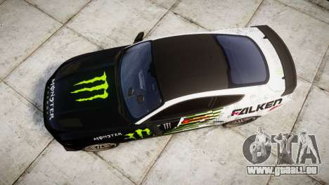 Ford Mustang GT 2015 Custom Kit monster energy pour GTA 4 est un droit