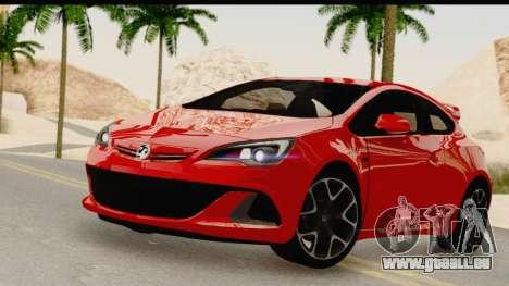 Vauxhall Astra VXR pour GTA San Andreas sur la vue arrière gauche