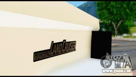 Toyota Land Cruiser Macho Pick-Up 2007 4.500 pour GTA San Andreas vue arrière