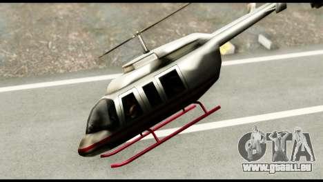 Beta Maverick pour GTA San Andreas sur la vue arrière gauche