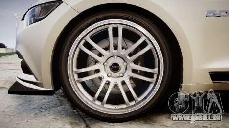 Ford Mustang GT 2015 Custom Kit black stripes gt für GTA 4 Rückansicht