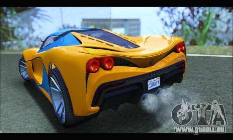Grotti Turismo R v2 (GTA V) (IVF) pour GTA San Andreas sur la vue arrière gauche