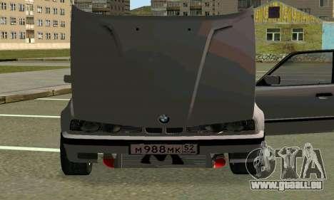 BMW 525 Turbo für GTA San Andreas obere Ansicht