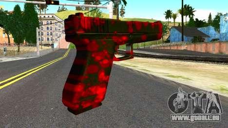 Pistol with Blood für GTA San Andreas