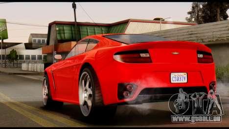 GTA 5 Dewbauchee Rapid GT Coupe [IVF] pour GTA San Andreas laissé vue