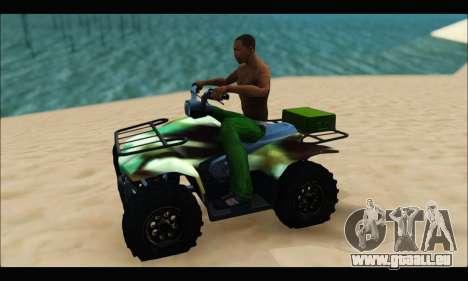 ATV Army Edition pour GTA San Andreas laissé vue