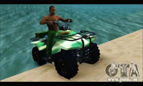 ATV Army Edition pour GTA San Andreas sur la vue arrière gauche