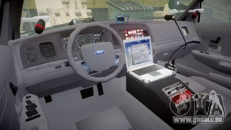 Ford Crown Victoria Highway Patrol [ELS] Liberty für GTA 4 Rückansicht
