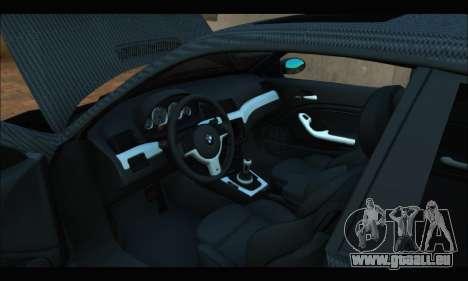 BMW M3 E46 Carbon pour GTA San Andreas vue de droite
